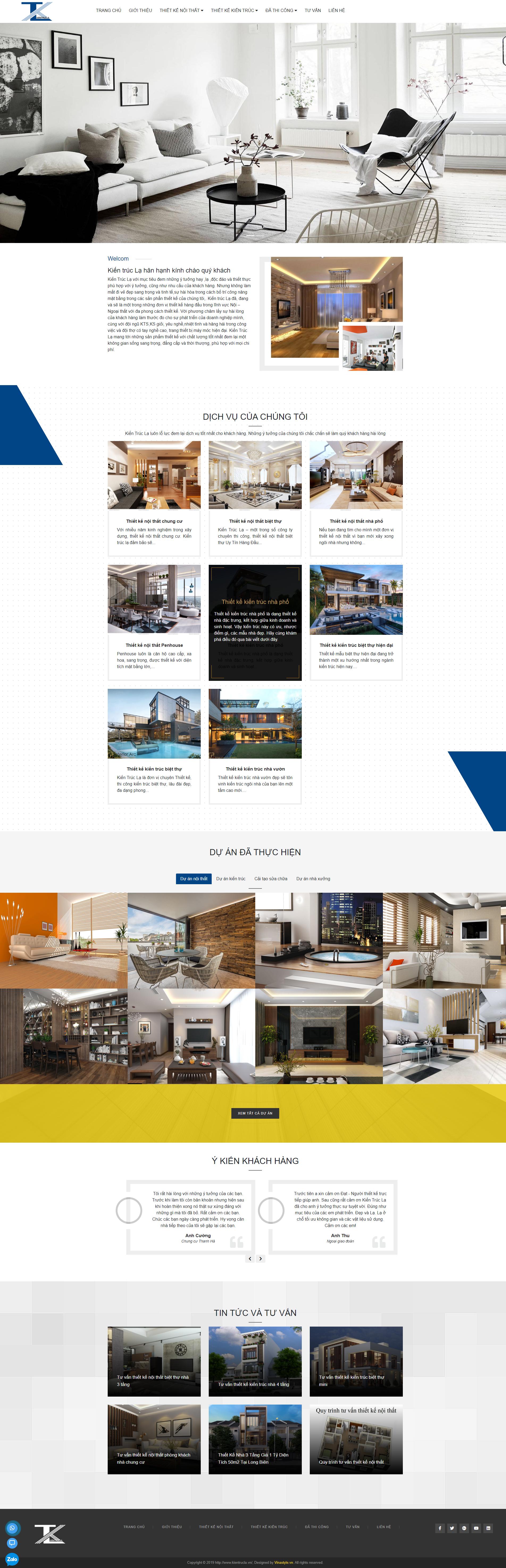 Công ty cổ phần Kiến Trúc Lạ - Thi kế thi công nội thất, kiến trúc