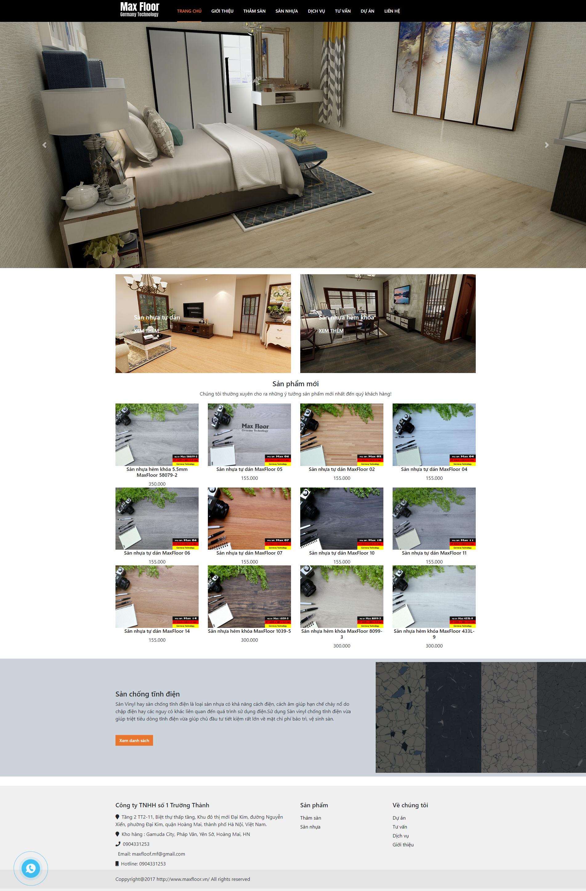MaxFloor - Sàn nhựa Maxfloor công nghệ đức