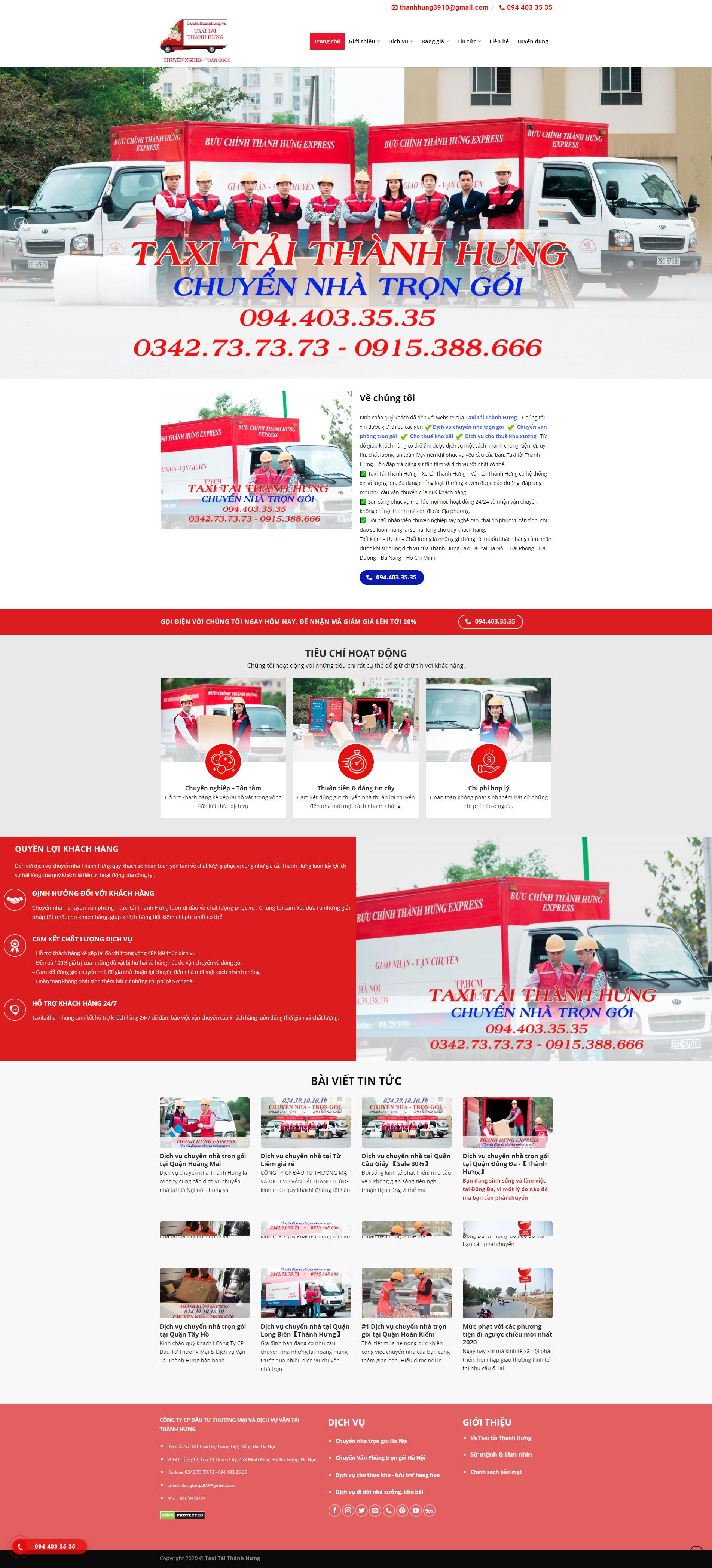 Taxi tải Thành Hưng - Công ty CP ĐTTM   DV Vận Tải Thành Hưng (1)